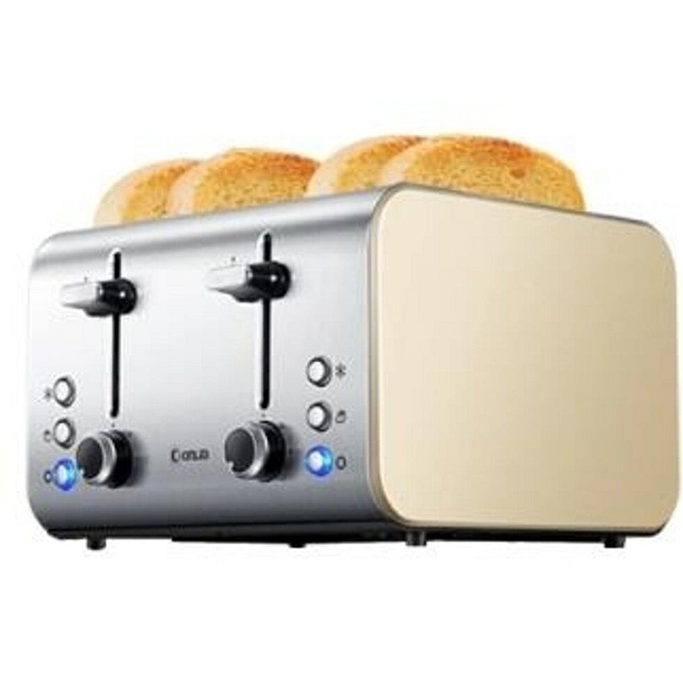 麵包機烤麵包機家用4片早餐多士爐吐司機全自動 LX220V 清涼一夏钜惠