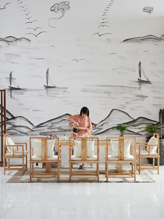 茶几 原木茶桌椅組合實木喝茶藝功夫茶幾新中式泡茶臺簡約現代客廳茶桌