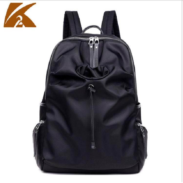 尼龍牛津布後背包防水輕便大背包女韓版電腦學生書包百搭 #KTW106