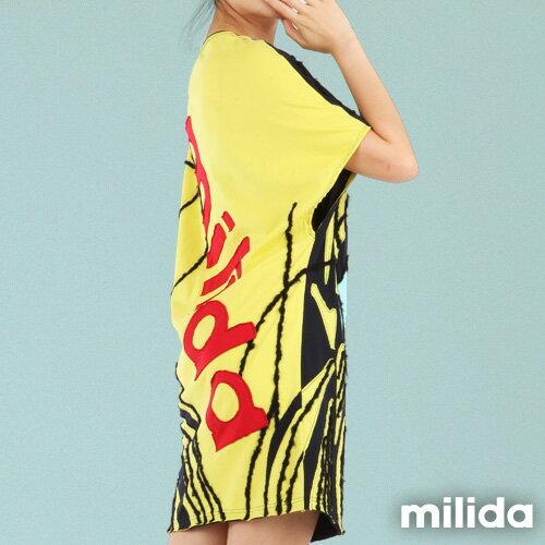 【Milida,全店七折免運】-秋高氣爽-洋裝款-拼貼洋裝 4