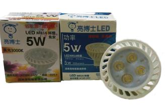 亮博士★免安定器LED MR16 5W 杯燈 全電壓 白光 黃光★永旭照明DR-REC-LED-5W-45%
