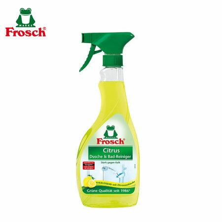 德國Frosch小綠蛙檸檬浴廁清潔噴劑500ml浴室廁所清潔劑水垢皂垢浴室清潔劑檸檬酸清潔劑【N600201】