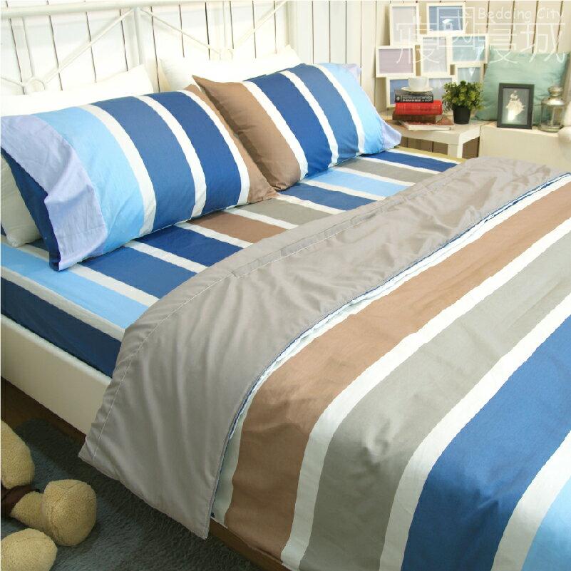 雙人床包涼被4件組-夏天的風 【精梳純棉、吸濕排汗、觸感升級】台灣製造 # 寢國寢城 4