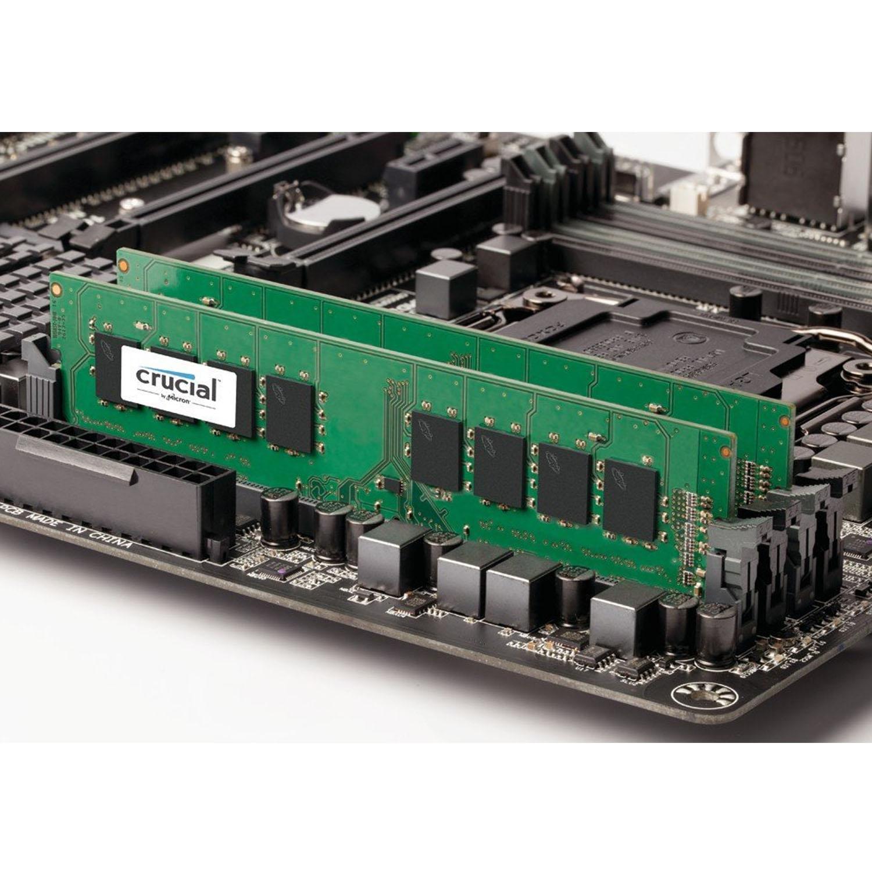 Crucial CT8G4DFS824A 8GB Single DDR4 2400 MT/s (PC4-19200) SR x8 DIMM 288-Pin Memory 1