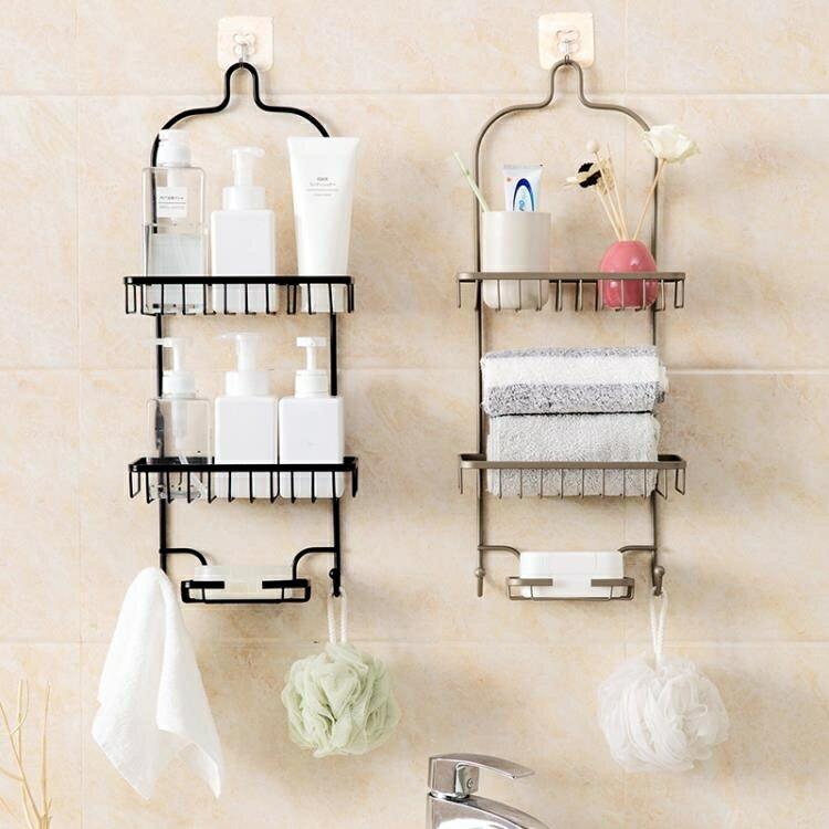 鐵藝免打孔置物架廚房多層收納架衛生間浴室壁掛三層洗漱架 HM