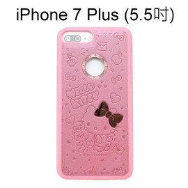 Hello Kitty壓紋保護殼 [寶貝] 粉 iPhone 7 Plus (5.5吋)【三麗鷗正版授權】