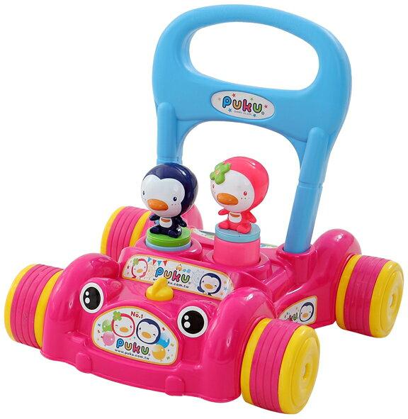 PUKU藍色企鵝 - 助步車 (水藍/粉紅) 2