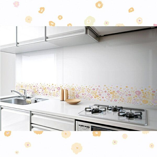 【現貨+預購】日本廚房用配件-花漾年華高品位琺瑯壁板【PZF】