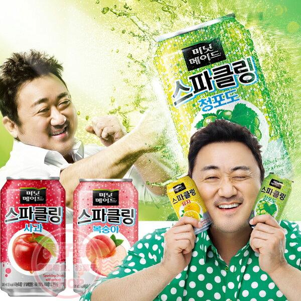 韓國水果氣泡飲水果風味汽水(單瓶)[KR466]飲品