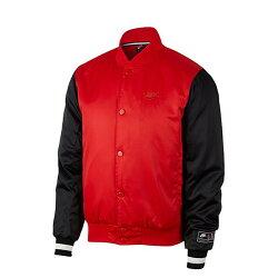 NIKE AIR 男裝 棒球外套 休閒 舒適 保暖 紅 【運動世界】 AR1838-657