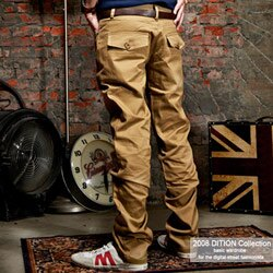 DITION  英倫風上蓋口袋休閒長褲-共五色 0