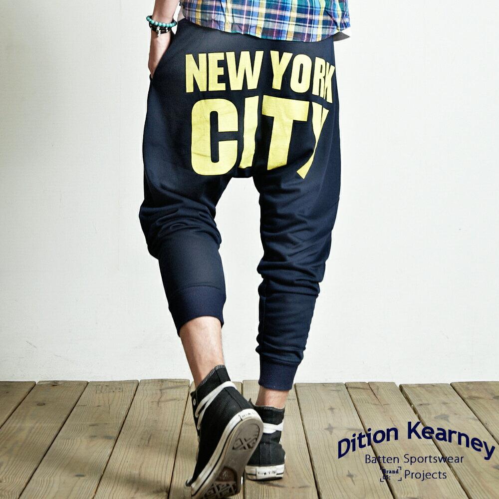 DITION 美式NY CITY膠印抽繩運動棉褲 0