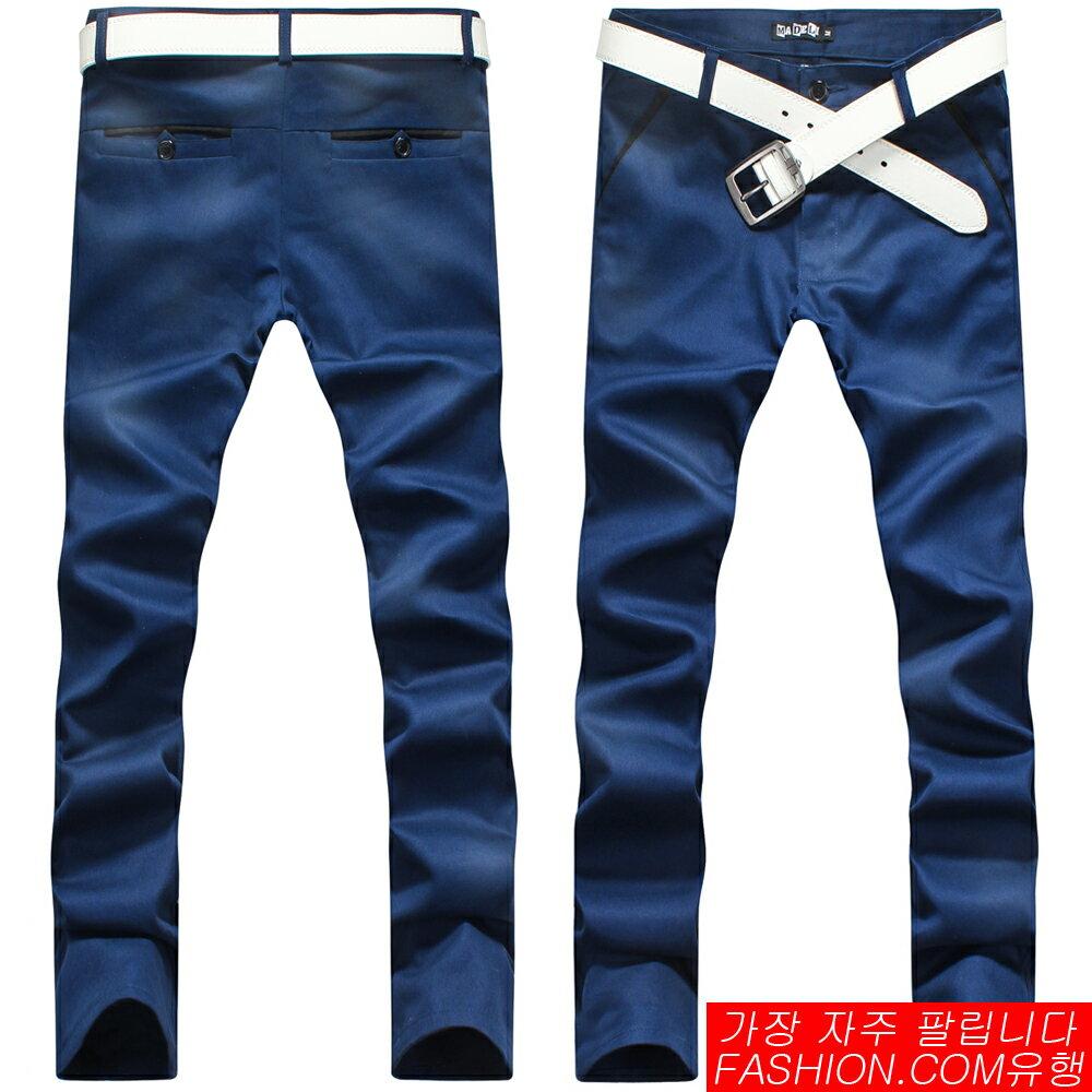 DITION  韓系時裝SKINNY黑布邊窄版長褲-共六色 0
