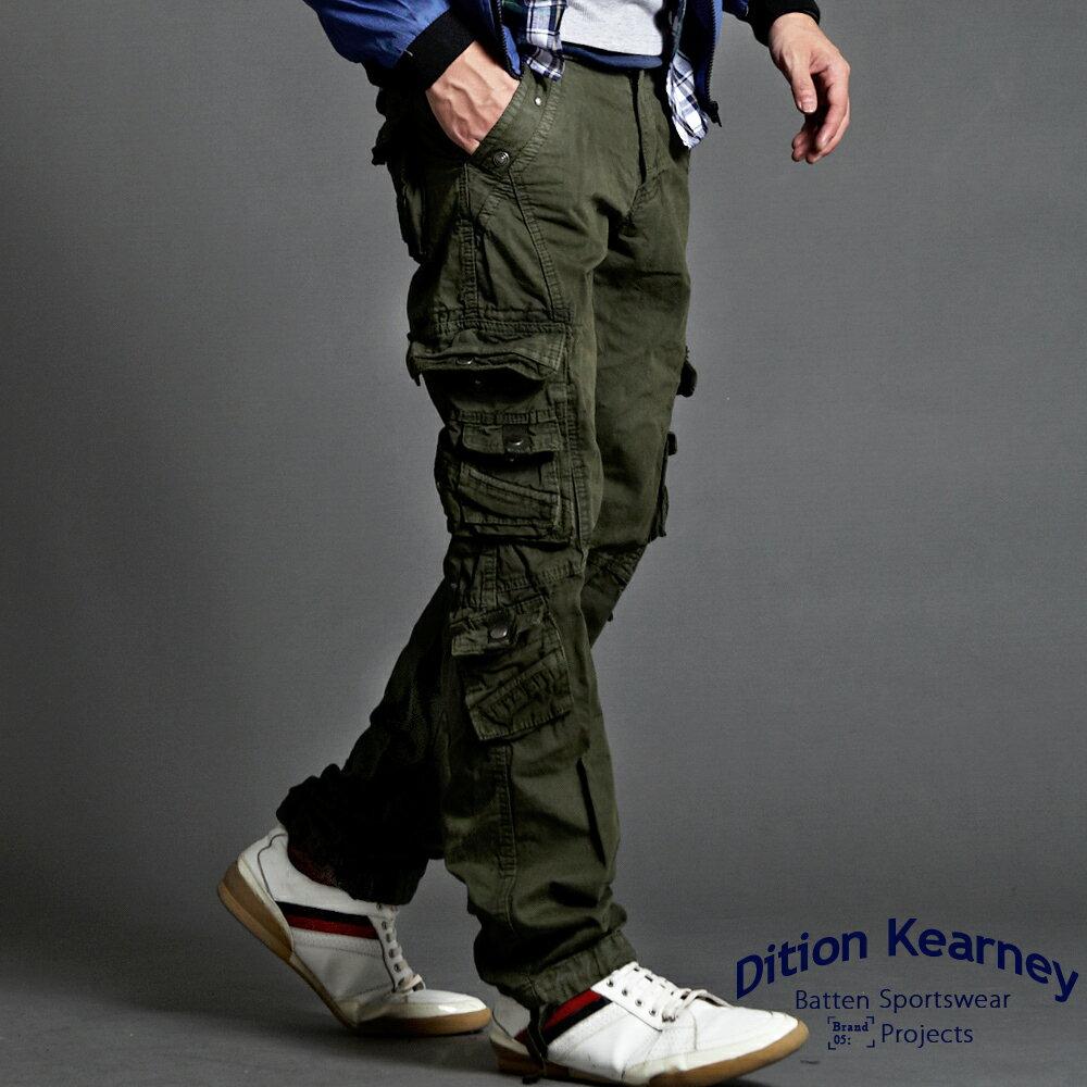 DITION 美式高磅水洗抽繩工作褲 機能口袋 0