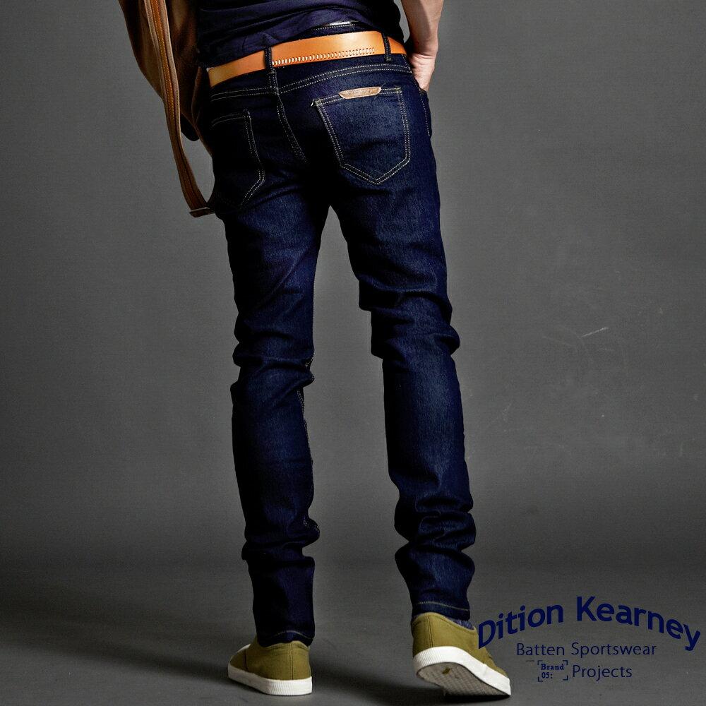 DITION 買一贈品 復古DENIM彈性原色藍牛仔長褲 偉士 0