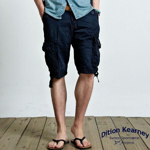 DITION 美式高磅水洗抽繩工作短褲 機能口袋