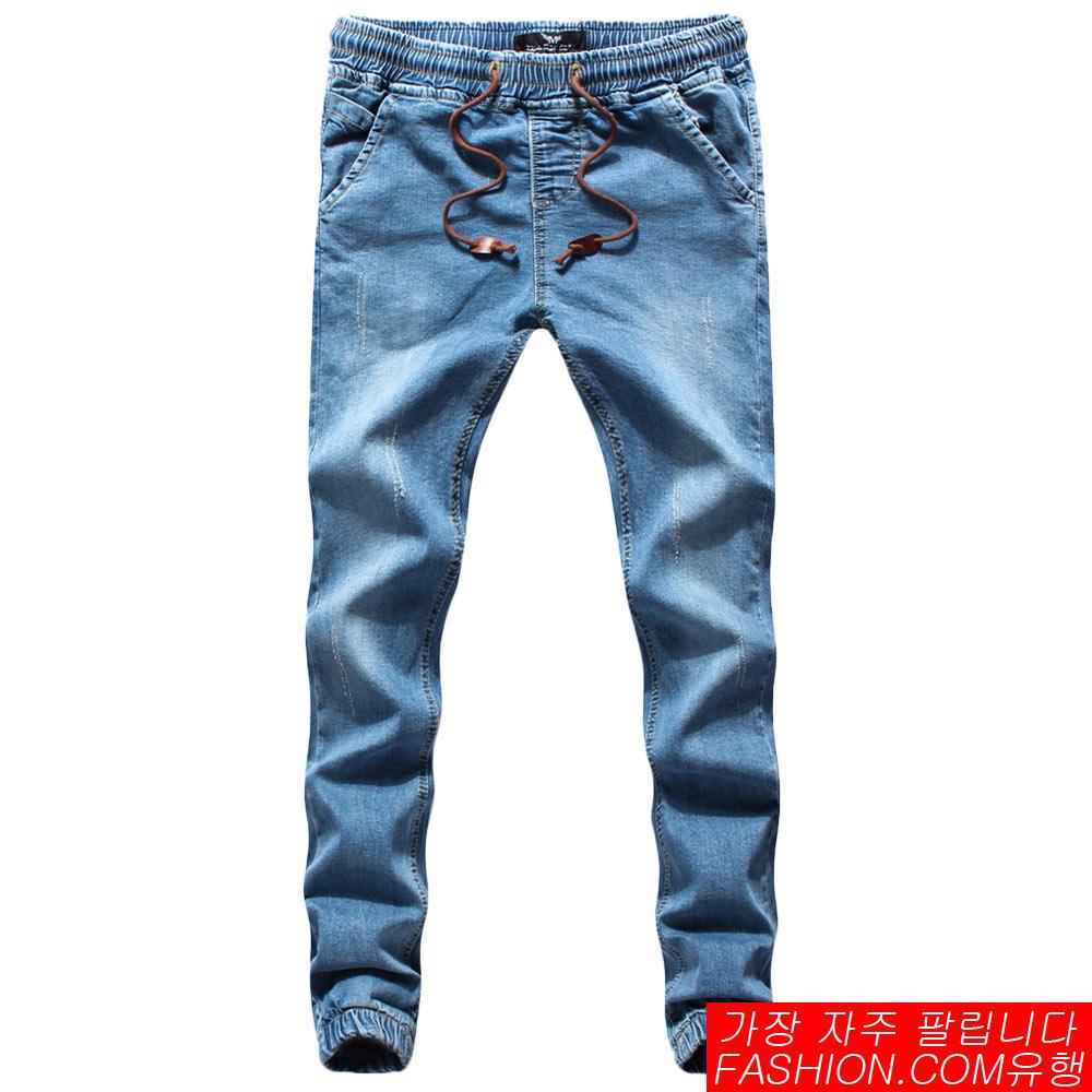 DITION 皮革抽繩JOGGER貓爪刷紋縮口牛仔褲