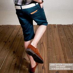 DITION  韓系T.S鋼印微彈性休閒短褲 0