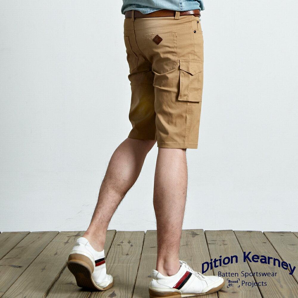 DITION SHOP  韓系合身釘釦口袋工作短褲-共四色 有大尺碼 0