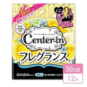 ~Center~in~潔淨花香輕柔蝶翼衛生棉~30cm  12入~^#09~