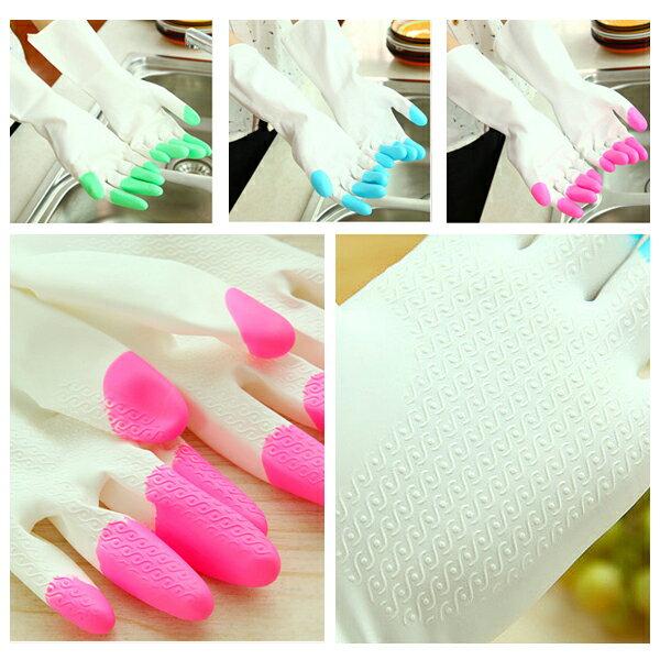 洗碗手套-M號 清潔手套掃地居家整理防髒手套 顆粒止滑工作護手套