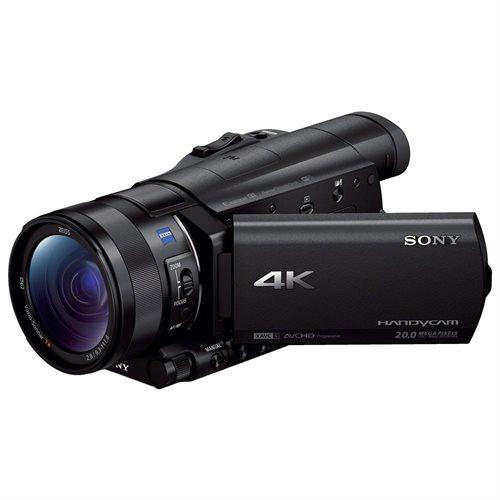"Sony Handycam FDR-AX100 Digital Camcorder - 3.5"" - Touchscreen LCD - CMOS - 4K - Black - 16:9 - 20 Megapixel Image - 14.2 Megapixel Video - MP4, AVCHD, XAVC S, MPEG-4, H.264/MPEG-4 AVC - 12x Optical Zoom - 160x Digital Zoom - Optical (IS) - Speaker, Micro 0"