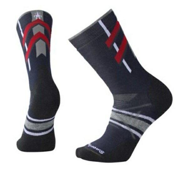 【【蘋果戶外】】Smartwool SW001094 092 深海軍藍 PhD Nordic 中量級減震印花中長統筒襪 登山襪 美國製造 美麗諾羊毛襪 保暖