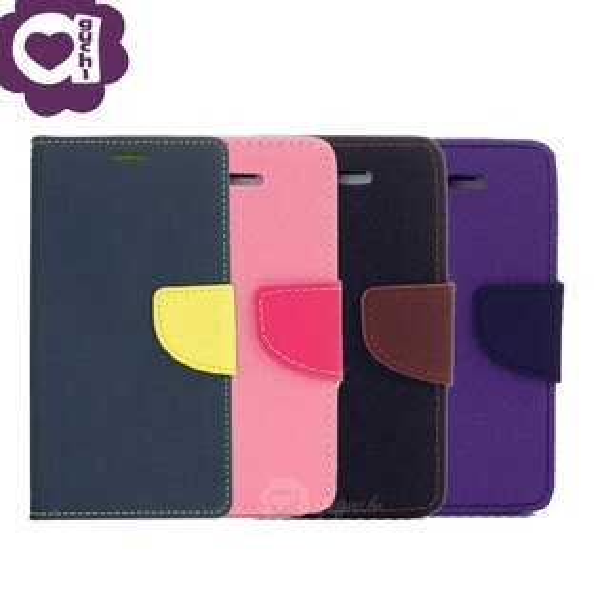 ASUSZenFone4MaxZC554KL馬卡龍雙色側掀手機皮套磁吸扣帶支架式皮套藍黑棕粉紫多色可選