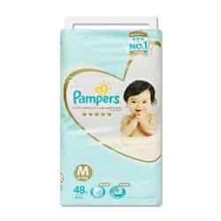 (多)Pampers 日本境內幫寶適(新)尿布/紙尿褲(一級幫)M48片*4包(箱購)★衛立兒生活館★
