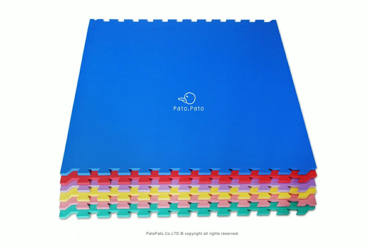 [Pato.Pato]外銷日本安全超大EVA巧拼地墊爬行地墊、運動墊、睡墊、跆拳道紅、藍、綠、黃、紫、粉-台製/SGS