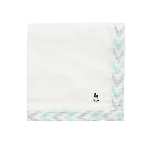 【限量送NUK嬰兒洗衣精60ml】韓國【 Borny 】有機棉多功能紗巾(鋸齒痕) - 限時優惠好康折扣