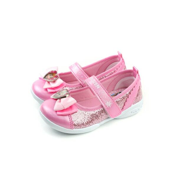 冰雪奇緣 娃娃鞋 童鞋 粉紅色 中童 no599