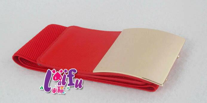 ★草魚妹★H610腰封腰帶方扣極簡風造型鬆緊腰封腰帶皮帶正品,售價250元