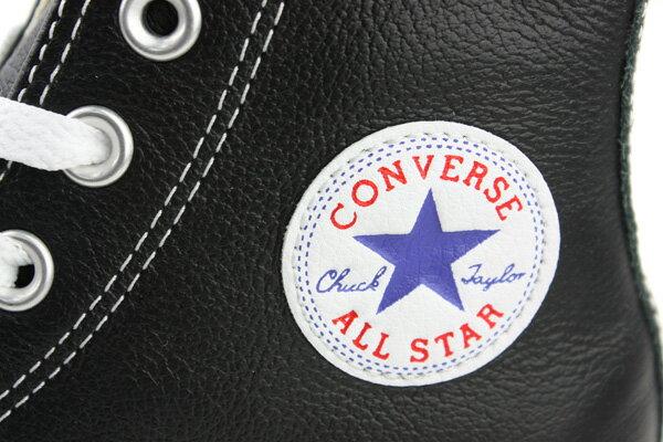 CONVERSE Chuck Taylor All Star Leather 皮革 舒適 基本款 戶外休閒鞋 黑 男女款 132170C no059 2