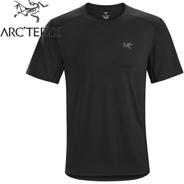 Arcteryx始祖鳥登山排汗衣排汗T恤Ether男款短袖排汗衣12529黑色