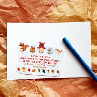 教師節禮物 教師節卡片推薦到我要稱謝你,因我受造,奇妙可畏/萬用貼紙+卡片/防水貼紙+進口藝術卡紙/祝福卡片/經文卡/經文貼紙//交換禮物/洗禮祝福/受洗禮就在課長Q推薦教師節禮物 教師節卡片