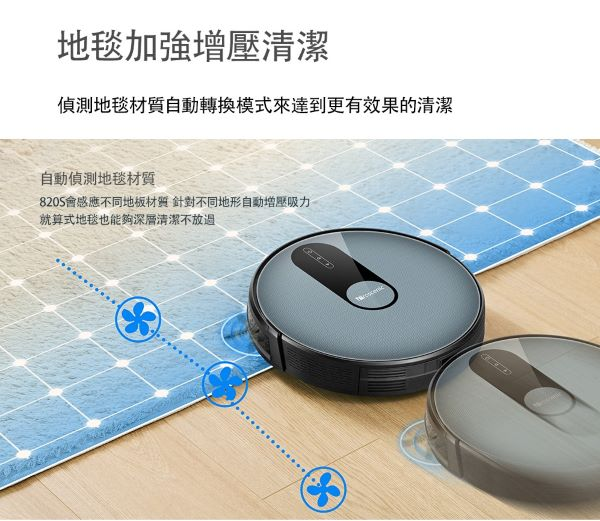 【Proscenic】台灣浦桑尼克 820S 超薄款 3合1智能掃地機器人 歐美版 僅付英文說明書 7