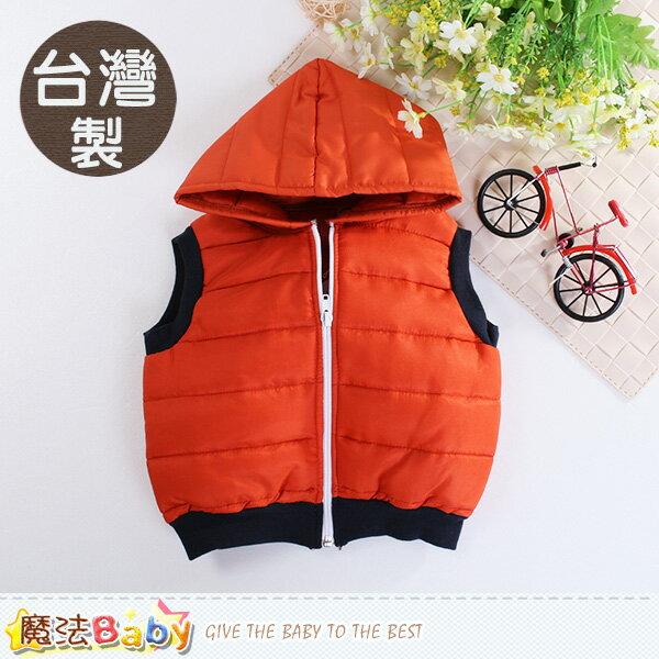 嬰幼兒外套 台灣製鋪棉輕量兒童連帽背心外套 魔法Baby~k60499