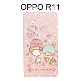 雙子星彩繪皮套[花籃]OPPOR11(5.5吋)【三麗鷗正版授權】