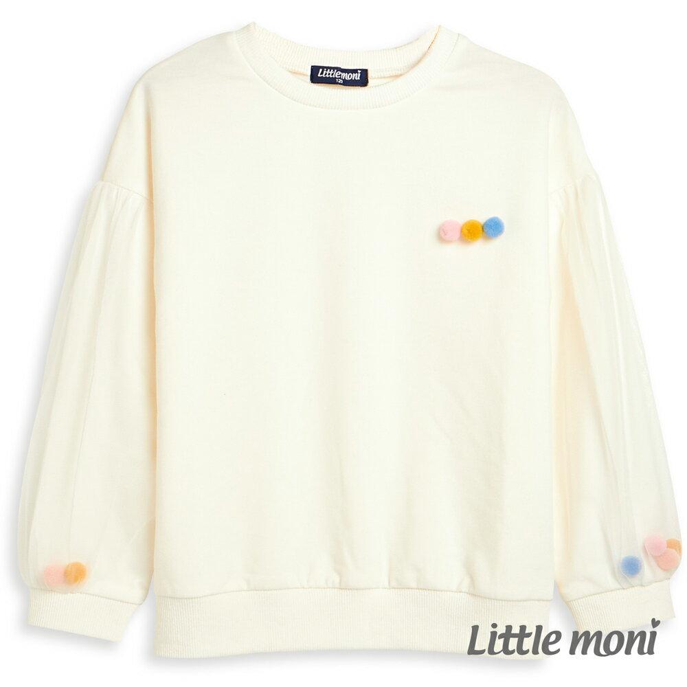 Little moni 圓領毛球造型上衣-白色(好窩生活節) 0