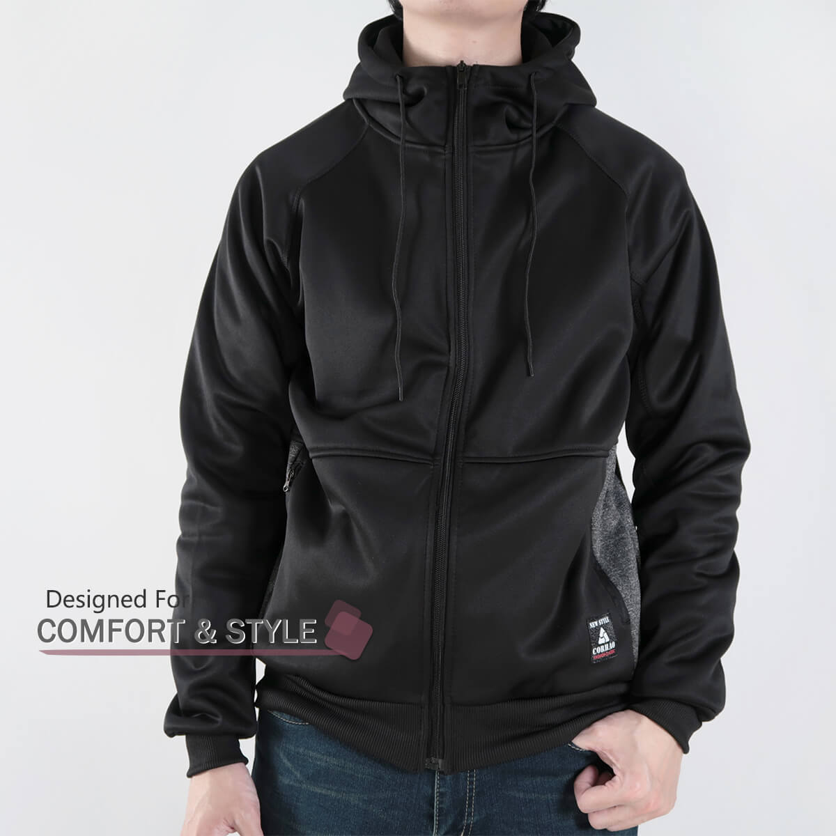 內刷毛連帽保暖外套 夾克外套 運動外套 休閒連帽外套 刷毛外套 黑色外套 時尚穿搭 WARM FLEECE LINED JACKETS (321-8916-01)淺灰色、(321-8916-02)深灰色、(321-8916-03)黑色 L XL 2L(胸圍46~50英吋) [實體店面保障] sun-e 7