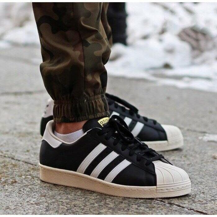 【日本海外代購】Adidas Originals Superstar 80s 黑白 金標 貝殼頭 奶油底 復古男女