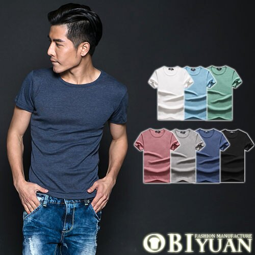 MIT素面短T【F10601】OBI YUAN 韓版馬卡龍多色彈性短袖T恤共7色
