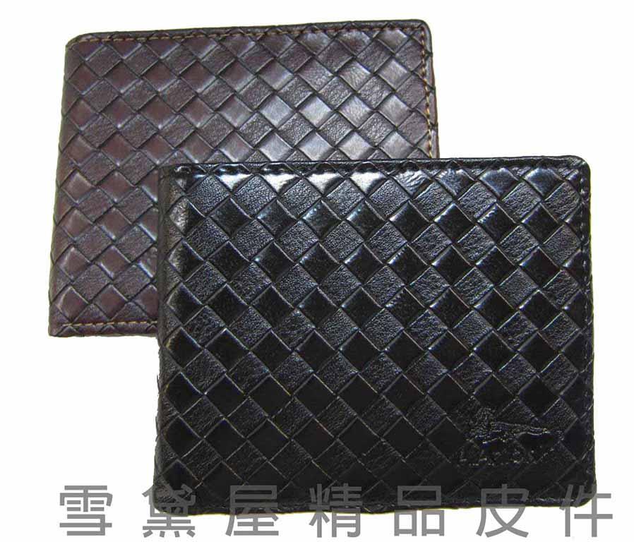 ^~雪黛屋^~A.Antonio 男仕短夾 專櫃 防水防刮皮革 固定型證件夾加長尺寸 B0