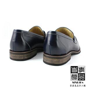 寺孝良品 韓式雅痞 經典紳士樂福鞋 藍 3
