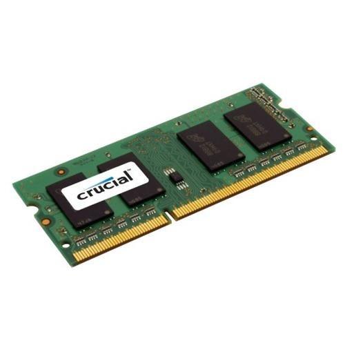 Crucial 8GB (1 x 8 GB) DDR3 SDRAM Memory Module - 8 GB (1 x 8 GB) - DDR3 SDRAM - 1600 MHz DDR3-1600/PC3-12800 - 1.35 V - Non-ECC - Unbuffered - 204-pin - SoDIMM 1