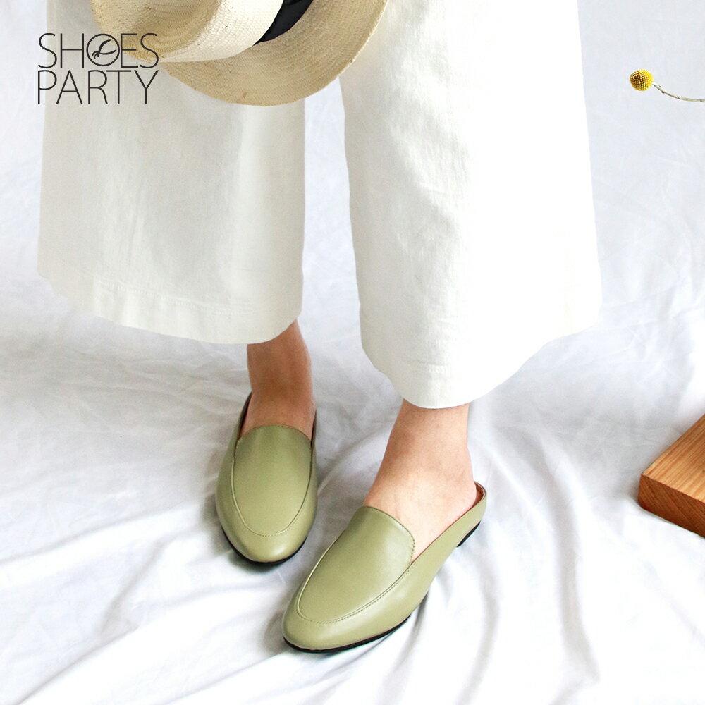 【S2-19518L】一套就走,素面真皮穆勒鞋_Shoes Party 2