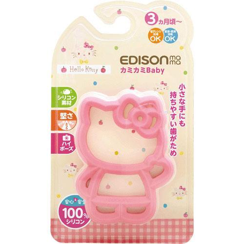 日本 EDISON Hello Kitty 嬰幼兒固齒器 磨牙玩具 咬牙固齒玩具 3個月以上適用*夏日微風*