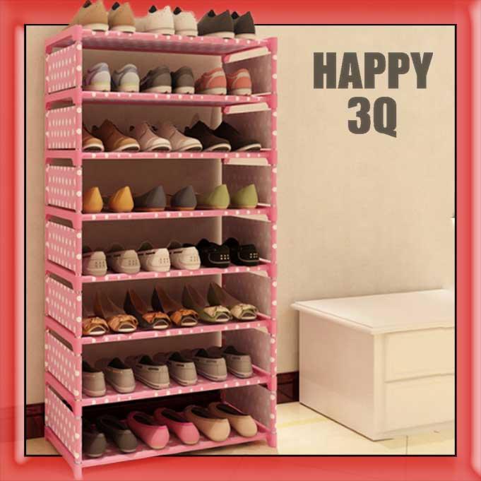 現代簡約圓點點DIY組裝優質防水小物收納架鞋架書櫃八層-銀灰/藍點/粉點/黑白【AAA0719】