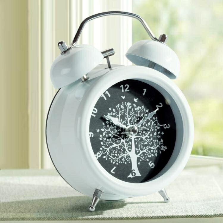 鬧鐘 床頭鐘可愛金屬鬧鐘創意學生靜音夜燈簡約時尚卡通小鬧鐘